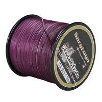 8 Strands Purple Power Strong PE Dyneema Braid Fishing Line 100M/300M/500M/1000M