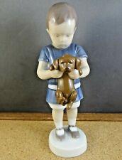 B&G Bing & Grondahl Denmark Copenhagen Ole Boy Holding Puppy Dog Figurine 1747