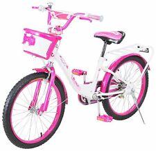Kinder Fahrrad Bike Mädchen Kinderrad 20 Zoll Weiß-Pink