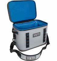 Brand New YETI Hopper Flip 18 Soft Cooler Fog Gray Tahoe Blue - Waterproof