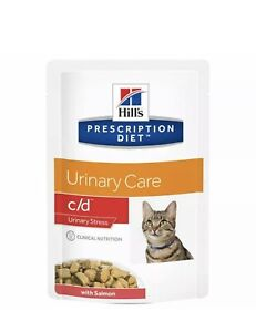 Hills Urinary Care C/D Urinary Stress Cat Food Salmon 12x 85g FREE POSTAGE