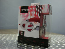 NEW RCA Ampz HP5041 3.5mm Connector On Ear Full-Size Headphones WHITE RED