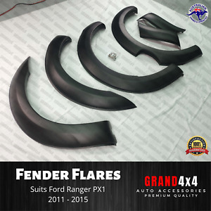 Fender Flares Guard Cover Arch Matte Black to suit Ford Ranger PX1 2011 - 2015