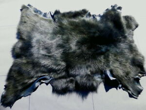 sheepskin leather hide Deep Teal Blue Toscana long thick silky haired 3.75 sf