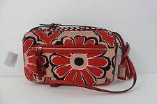 Coach Poppy Flight Bag Crossbody Shoulder Handbag Purse Floral Scarf Print