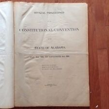 Official Proceedings of the Constitutional Convention  the State of Alabama 1901