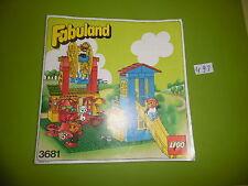 Lego de recette FABULAND 3681 (only the Instruction, no Bricks)