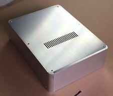 #2409 Silver Aluminum Enclosure case headphone amplifier preamp DAC box chassis