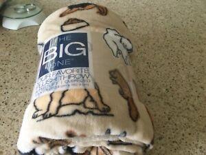 """Kohl's """"The Big One"""" fleece blanket."""
