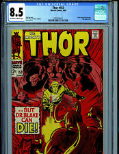 Thor # 153 CGC 8.5 VF+ 1968  Marvel Comic Amricons B11