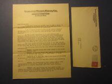 1926 DIAMOND MOTOR PARTS Letterhead & Cover - Stockholder Adv. - ST CLOUD MINN.