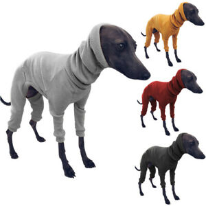 Winter Dog Coat Jacket Tight Dog Hoodie Dog Jumper Sweater for Greyhound Whippet