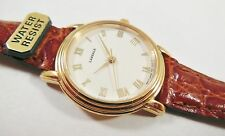Lassale by Seiko Gold Tone Metal 1F21-F010 Calfskin Sample Watch NON-WORKING