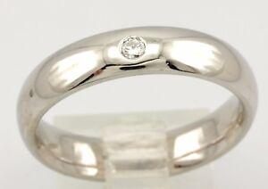 14k white gold round diamond size 9.25 man's 5mm wedding band ring 6.93 g NEW