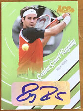 2006 ACE Tennis Roger Federer Center Court Royalty Auto #22/25 Signature Swiss