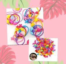 8 kids Butterfly clips Plus 10 Hair Ties.Plastic Hair Clip Baby Girls Toddler