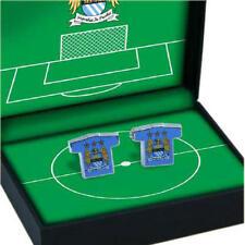 Manchester City Fc Football Shirt Cufflinks In Gift Box - Mens Executive Wedding