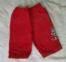 BABY GIRLS RED TROUSERS 0-3 MONTHS JUNIOR J DEBENHAMS FLORAL IMMACULATE