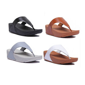 Fitflop Lulu Leather Women Leather Matt Dove Blue Sandals Size US 5 - 10