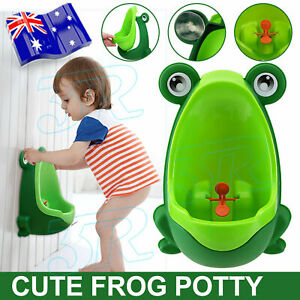 Frog Shaped Kid Baby Potty Toilet Training Urinal Boys Pee Trainer Bathroom