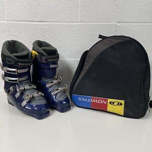 SALOMON Evolution 2 9.0 Ski Boots Size UK 9.5 W/ Carry Bag
