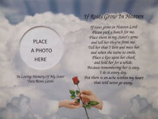 Sympathy of Sister In Memory Poem Gift Memorial Day Condolence Gifts In Heaven