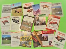 Lot of 17 Misc. Farm Equipment Implement Brochures Shredders Harrows Mowers Etc