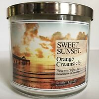 NEW BATH BODY WORKS ORANGE CREAMSICLE 3-WICK 14.5 OZ SCENTED LARGE FILLED CANDLE