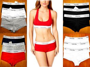 Calvin Klein Women's BOYSHORTS 3 Pack Cotton Underwears S - XL SIZES MIX & MATCH