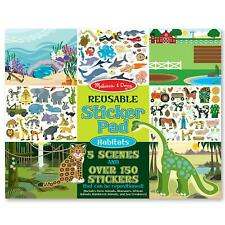 Melissa & Doug Reusable Sticker Pad - Habitats - 5 Scenes - Kids Ages 3 Years