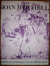 Joan Mitchell affiche lithographie 1971 art abstrait abstraction lyrique usa
