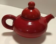 Vntg 1970's Beauceware Canada Flowerdale Hayhoe Teapot, Red, #3321