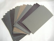 "16PC 3"" x 5 1/2""  WET DRY SANDPAPER 400 600 800 1000 1200 1500 2000 2500 GRIT"