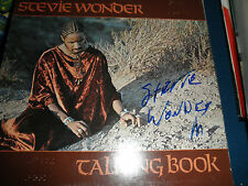 STEVIE WONDER SIGNED BRAILLE LP EXACT PROOF AT SIGNING! RARE AUTOGRAPH COA! RARE
