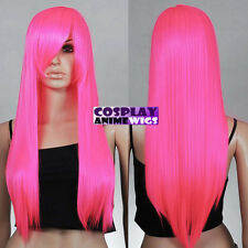 70cm Hot Pink Heat Styleable Long Cosplay Wigs 76_RFH