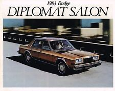 1983 DODGE {Canada} DIPLOMAT SALON Brochure / Flyer:  Canadian.......NOS