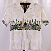 KY'S Ivory With Beer Bottles Hawaiian Shirt