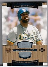 DAVE PARKER 2003 SWEET SPOT CLASSIC GAME USED JERSEY
