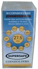 SuperSafe RC27 Coin Holders 27.5mm (Small Dollar) 50pk