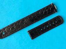 Junghans Mega Lederband mit Antenne schwarz Krokoprägung 025/4300