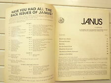 1974 VOLUME FOUR NUMBER FIVE JANUS A JOURNAL FOR THE MODERN DISCERNING ADULT