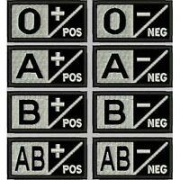 [Patch] GRUPPO SANGUIGNO SOFTAIR ESERCITO fondo nero - var. 2 cm 6x3 ricamo -424