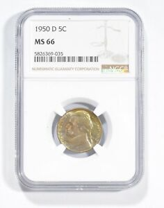 MS66 1950-D Jefferson Nickel - Graded NGC *841