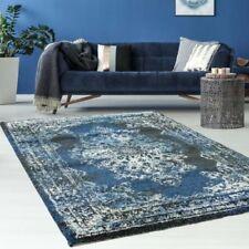 Tapis bleu rectangulaire pour la maison, 160 cm x 230 cm
