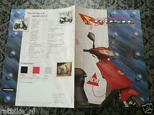 D536 BROCHURE HYOSUNG RUSH SCOOTER DUTCH 4 PAGES 1995 ? BROMFIETS