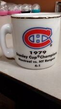 NHL STANLEY CUP CRAZY MINI MUG MONTREAL CANADIENS 1979 CHAMPS W/OPPONENT &SCORE