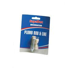 SupaDec Decorator Plumb Bob & Line Ensure Accurate Hanging Of Wallpaper