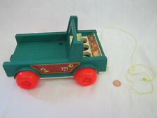 Vintage Fisher Price Little People CAMPING CAMPER TRUCK Only 994 Camp Pull Toy