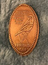 Rainforest Cafe Mgm Mountain Bluebird Pressed Elongated Penny Retired Copper