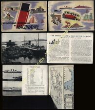 1950 DAVID MACBRAYNE Scottish Steamers Services, timetable's, map, cruises